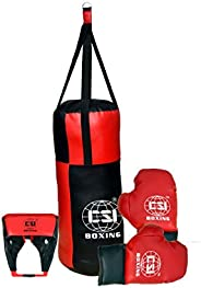 CSI Kids Filled Boxing Set Fitness Kit for 3 to 6 Years Children Kick Boxing MMA Training Martial Arts (1 Fill