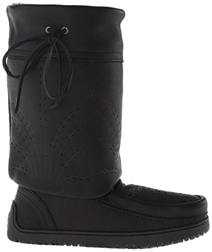 Mukluks Manitobah Women's Gatherer Black Mid Snow Boot pprdaqwx