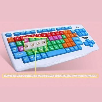 SKYDigital USB cableado Teclado para niños Letras Coreanas de Gran tamaño Personas con Baja visión Mezcla: Amazon.es: Electrónica