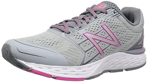 New Balance W680v5, Zapatillas de Running para Mujer Plateado (Silver Mink)