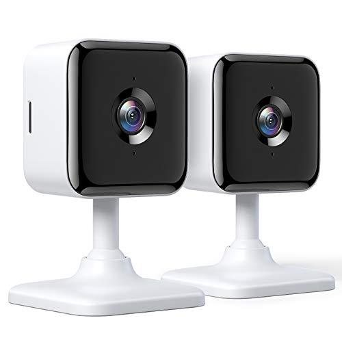 Teckin 1080P FHD Cámara de Vigilancia WiFi Interior, Visión Nocturna, Audio Bidireccional, Detección de Movimiento, Funciona con Alexa/Google Home, para Bebé/Mascota/Anciano, 2 unidades a buen precio