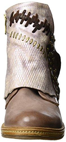A.S.98 Vertical - Botas estilo motero Mujer Rot (Grunge/ROSA/ROSA/Castagna/natur)