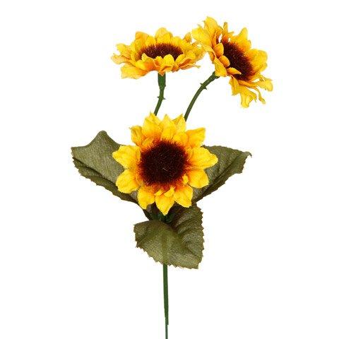 Bulk Buy: Darice DIY Crafts Sunflower Pick 3 Heads Yellow 6 inches (96-Pack) DS-1276-06