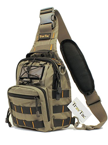 TravTac Stage II Small Sling Bag, Premium EDC Tactical Sling Pack 900D (Bi-Color - Bags Edc