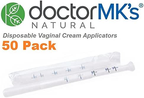 Vaginal Applicators (50-Pack) Fits Premarin Estrace Contraceptive Gels and Many More Creams, Individually Wrapped Disposable Applicator Dosage Marked by Doctor MK's®