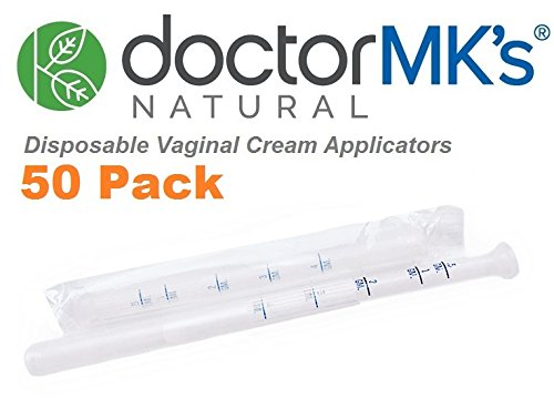 Vaginal Applicators (50-Pack) Fits Premarin Estrace Contraceptive Gels and Many More Creams, Individually Wrapped Disposable Applicator Dosage Marked by Doctor MK