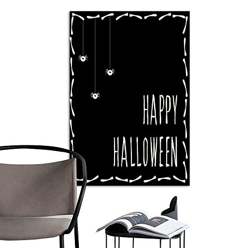 Canvas Wall Art Painting Happy halloween card template Abstract halloween pattern for design card party invitation poster album menu t shirt bag print etc 2.jpg Nature Canvas Artwork Home Office Wal ()
