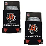 Official National Football League Fan Shop Authentic 2-Pack NFL Insulated 12 Oz Can Cooler (Cincinnati Bengals – Small Logo)