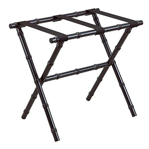 Gate House Furniture Bamboo Inspired Series Nylon Wood Luggage Rack, (Scheibe Luggage)