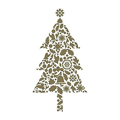 Biglietti Di Natale Modelli.6 Biglietto Di Natale Alberi Di Natale Laminate Colore Argento E