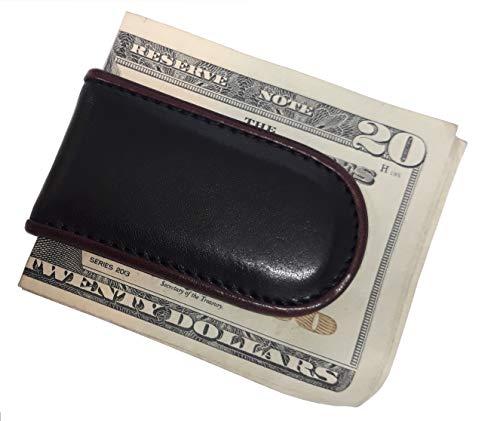 Bosca Men's Magnetic Leather Money Clip In green
