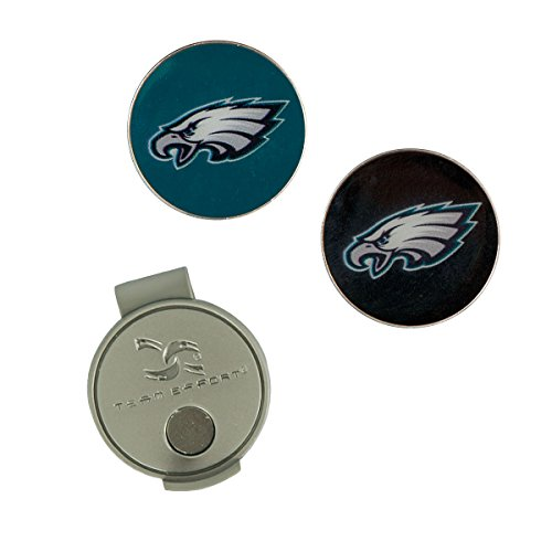 Team Effort NFL Philadelphia Eagles Hat Clip & 2 Ball Markers ()