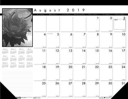 House of Doolittle 2019-2020 Monthly Desk Pad Calendar, Academic, Black On White, 22 x 17 Inches, August to August (HOD1225-20)