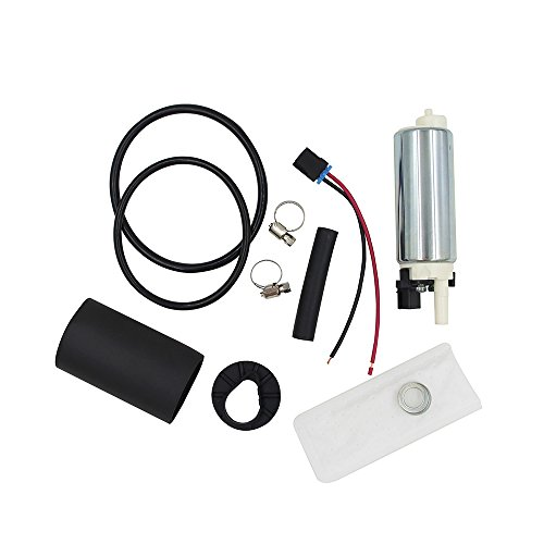 CUSTONEPARTS New Electric Intank Fuel Pump With Strainer/Filter + Rubber Gasket/Hose + Stainless Steel Clamps + Universal Connector Wiring Harness Fit Buick Cadillac GMC Chevy EP189 (Impala Filter Chevy Fuel)