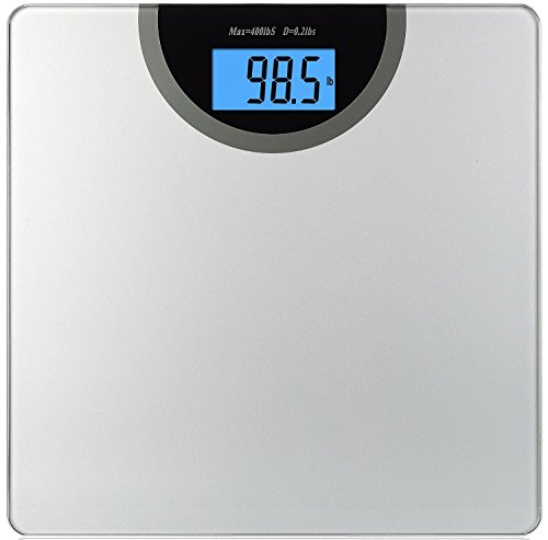 Digital Bathroom Scale Body Weight LCD Personal Fat Fitness Health Glass 400LB