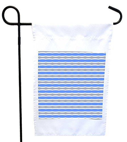 Rikki Knight Blue and Grey Swirly Stripes House or Garden Flag with 11 x 11-Inch Image, 12 x (Swirly Stripe)