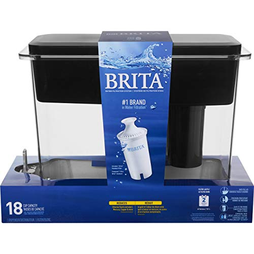 Brita Extra Large 18 Cup UltraMax Water Dispenser and Filter - BPA Free - Black by Brita (Image #8)