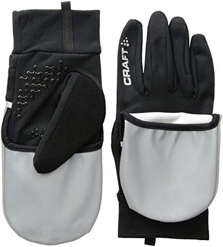 Craft Sportswear Hybrid Weather 2-in-1 Bike Cycling Gloves Mitten,Silver/Black,X-Large ()