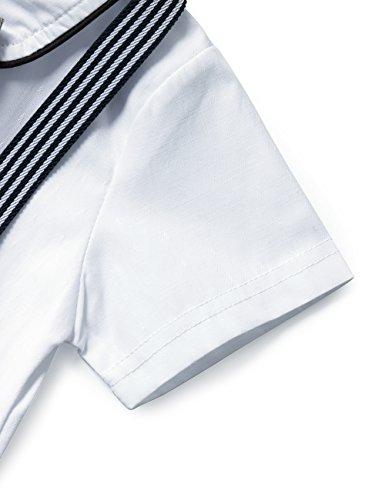 f0bcd6707 HeMa Island HMD Baby Boy Gentleman Bowtie Tuxedo Onesie Jumpsuit Overall  Romper with Hat (0