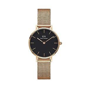 Daniel Wellington Petite Melrose, orologio da donna, 28 mm, in mesh, colore: oro rosa 3