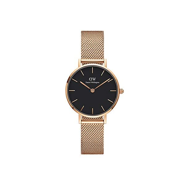 Daniel Wellington Petite Melrose, orologio da donna, 28 mm, in mesh, colore: oro rosa 1