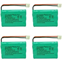 Geilienergy Rechargeable Cordless Phone Battery for V-Tech 89-1323-00-00 Model 27910 Cordless Telephone Battery Replacement Pack (Pack of 4)
