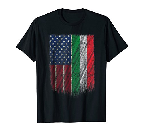 Italian American T Shirt Italian-American Flag 4th Of July