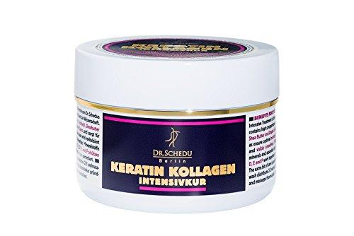 1x Dr. Schedu Berlin Keratin Collagen Intensive Treatment 6.67 FL OZ (200ml), silicone free, with...