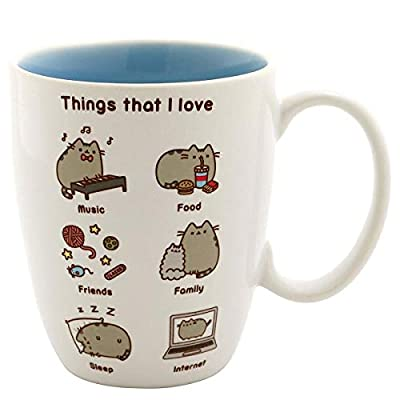 """Cat Fan related Products Pusheen by Our Name is Mud """"Things Pusheen Loves"""" Stoneware... [tag]"""