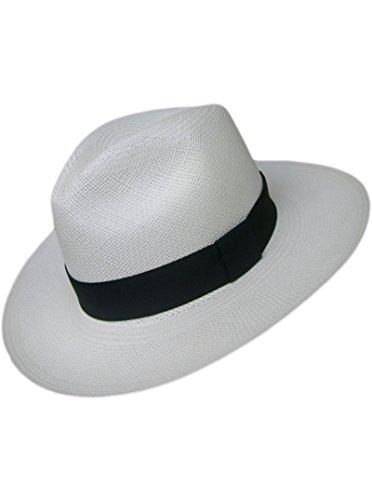 Gamboa Panama Hat - Fedora (Grade 3-4) White - Small