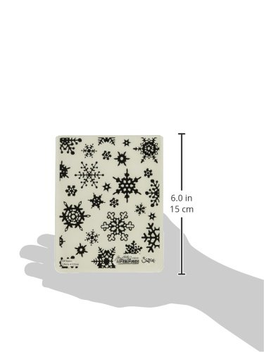 17.5x12.4x0.5 cm Plastico, Sizzix 662432 Cartella di Goffratura Texture Fades-Fiocchi di Neve Semplici di Tim Holtz