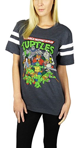 Women's Official TMNT Varsity Football Tee Shirt