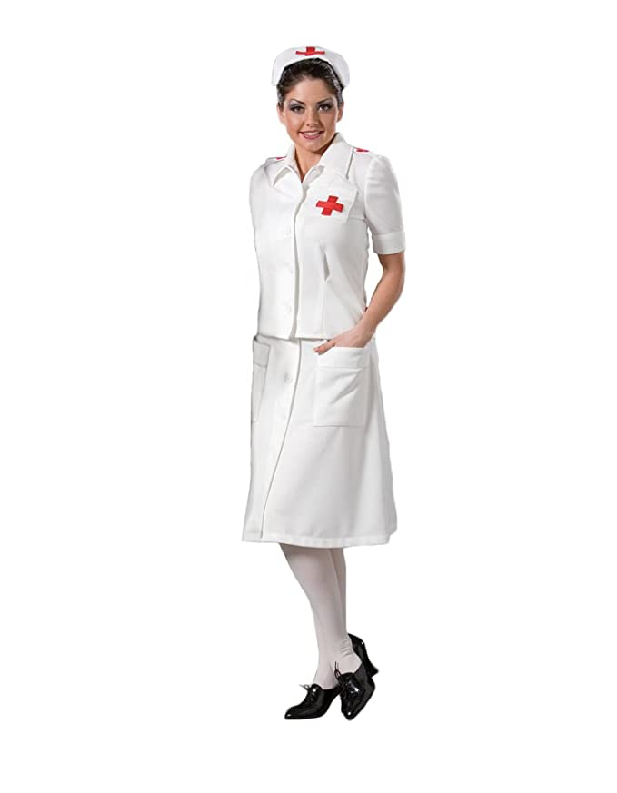 1940s Costumes- WW2, Nurse, Pinup, Rosie the Riveter Womens WWII Nurse Theater Costume $159.99 AT vintagedancer.com