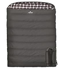 When you want to cuddle while you camp, choose the TETON Sports Fahrenheit Mammoth Sleeping Bag. You'll be warm, comfortable, and have plenty of room for two. It is built to last a lifetime. The 100% cotton flannel lining feels like soft bed ...