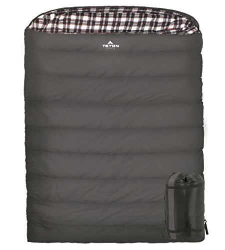 TETON Sports Fahrenheit Mammoth 0F Queen Size Sleeping Bag; Warm and Comfortable; Double Sleeping Bag Great for Family Camping; Compression Sack -