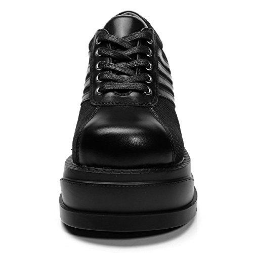 Schnürschuhe Creepers Goth Platform Damen Schuhe Leder RoseG Punk FwBEXqxII