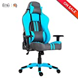 LCH Racing Gaming Chair 350 lbs Capacity Oversized Ergonomic Office Computer Desk Chair with Adjustable Headrest and Lumbar Support, Blue For Sale