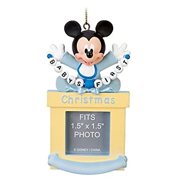 Disney Baby Boy First Mickey Mouse Photo Frame Ornament Amazonco