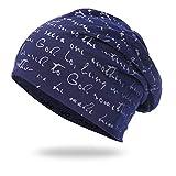 SFE Men Women Warm Crochet Winter Knit Ski Beanie Skull Slouchy Caps Hat Navy