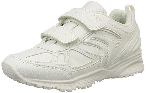 Geox J Bernie, Zapatillas Para Niños Blanco (White C1000)