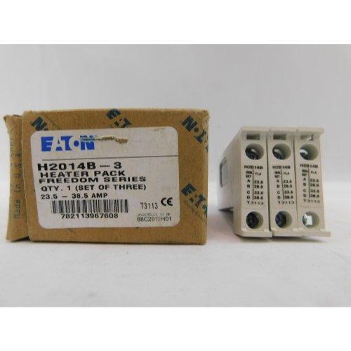 Eaton H2014B-3 Nema Starter Heater Pack, 23.5-38.5 Motor FLA (Pack of 3)