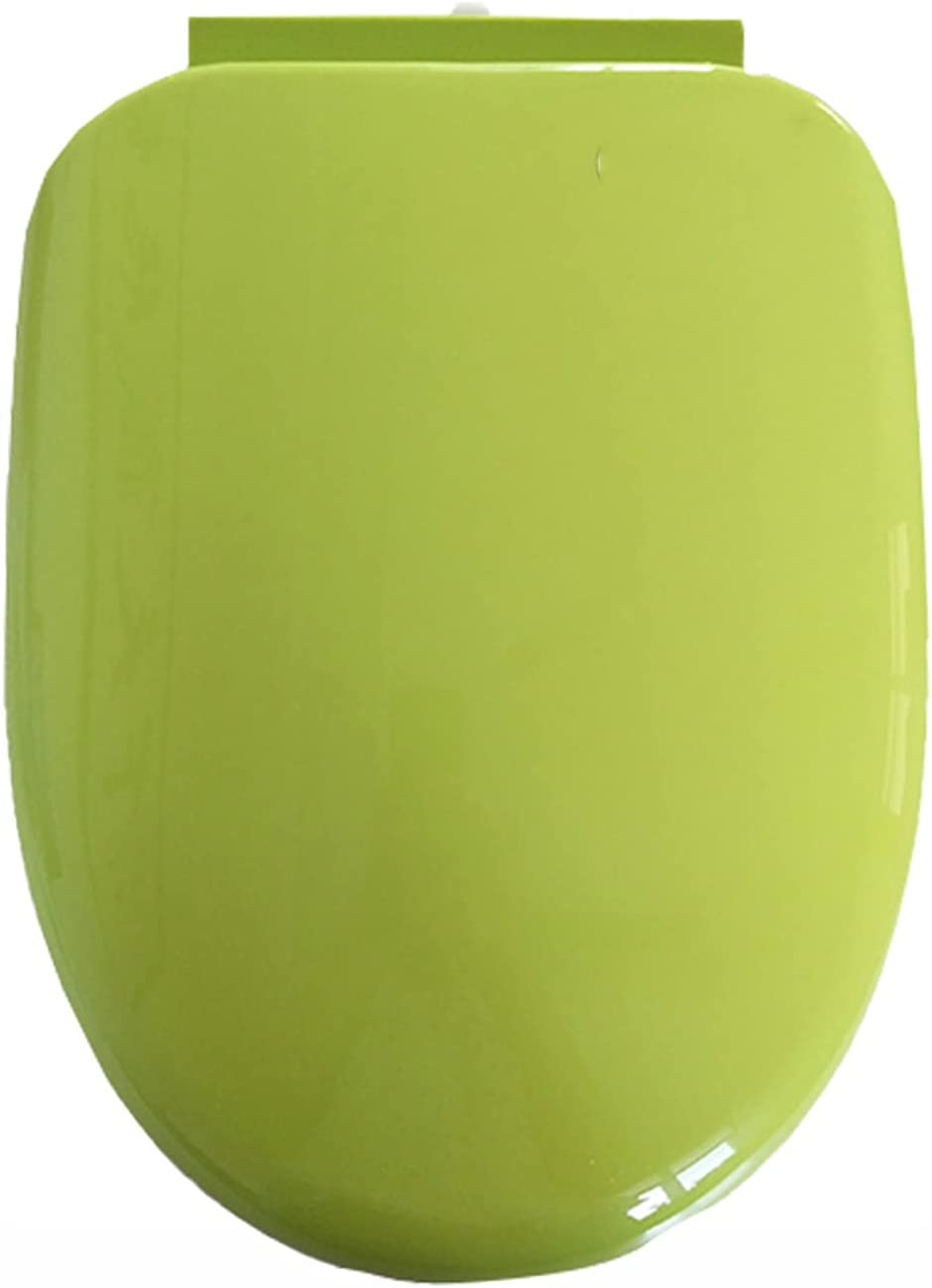 WEITONG Color Toilet Seat, U Type Comfortable Toilet Seat, Thicken Toilet Seat, Loads Up to 400 Lb, Easy to Clean & Install(Yellow, Red, Green, Blue, Purple)