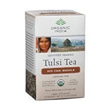 Organic India Tulsi Red Chai Masala, 18-Ounce Boxes (Pack of 12) by Organic India