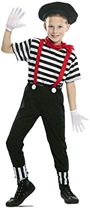 EUROCARNAVALES Disfraz de Mimo Circo para niño 5 a 6 años: Amazon ...