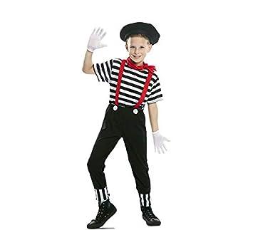 EUROCARNAVALES Disfraz de Mimo Circo para niño 10 a 12 años ...