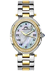 Porsamo Bleu South Sea Oval Crystal Stainless Steel Two Tone Womens Watch 106FSSO