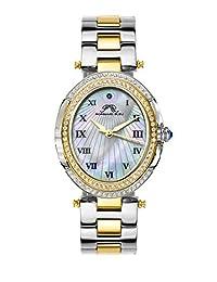 Porsamo Bleu South Sea Oval Crystal Stainless Steel Two Tone Women's Watch 106FSSO