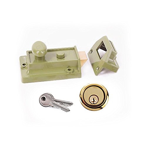Rim Night Latch - Yale Essentials Traditional 60mm Night Latch Front Door Lock for Secure Homes with Easy Fitting Template and Instructions, Yale Nightlatch, Suitable for Left and Right Hung Doors (Chrome)