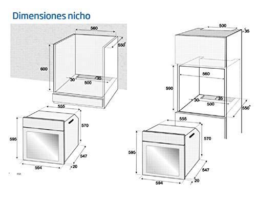 BEKO HORNOS DE ENCASTRE, Plata, 60 x 60 x 55: 203.53: Amazon.es ...