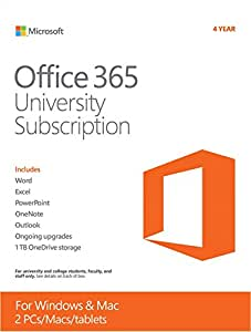 Office 365 University 4 year subscription English (PC Key Card)